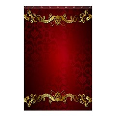 3d Red Abstract Pattern Shower Curtain 48  X 72  (small)  by Simbadda