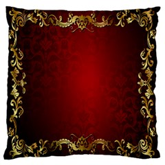 3d Red Abstract Pattern Large Cushion Case (one Side) by Simbadda
