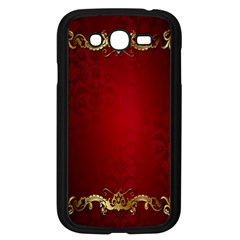 3d Red Abstract Pattern Samsung Galaxy Grand Duos I9082 Case (black) by Simbadda