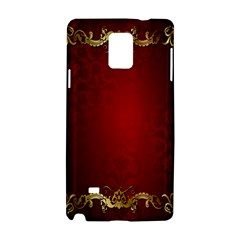 3d Red Abstract Pattern Samsung Galaxy Note 4 Hardshell Case by Simbadda