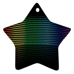 Abstract Multicolor Rainbows Circles Ornament (star) by Simbadda