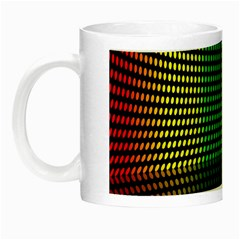 Abstract Multicolor Rainbows Circles Night Luminous Mugs by Simbadda