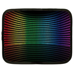 Abstract Multicolor Rainbows Circles Netbook Case (xl)