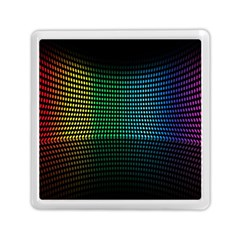 Abstract Multicolor Rainbows Circles Memory Card Reader (square)