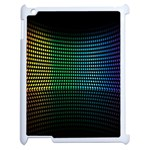 Abstract Multicolor Rainbows Circles Apple iPad 2 Case (White) Front
