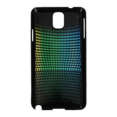 Abstract Multicolor Rainbows Circles Samsung Galaxy Note 3 Neo Hardshell Case (black) by Simbadda