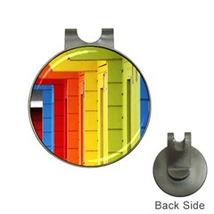 Abstract Minimalism Architecture Hat Clips With Golf Markers by Simbadda