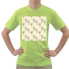 Flower Floral Pink Green T Shirt
