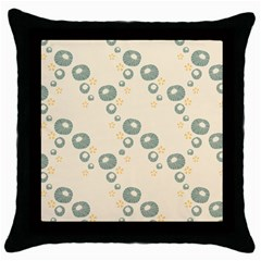 Flower Floral Pink Throw Pillow Case (black)