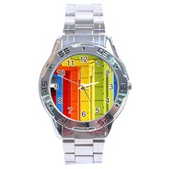 Abstract Minimalism Architecture Stainless Steel Analogue Watch by Simbadda