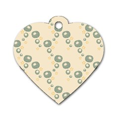 Flower Floral Pink Dog Tag Heart (one Side)