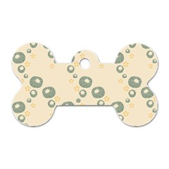 Flower Floral Pink Dog Tag Bone (one Side)