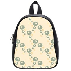 Flower Floral Pink School Bags (small)