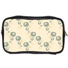 Flower Floral Pink Toiletries Bags 2 Side