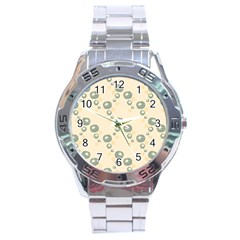 Flower Floral Pink Stainless Steel Analogue Watch