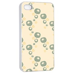 Flower Floral Pink Apple Iphone 4/4s Seamless Case (white) by Alisyart