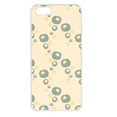 Flower Floral Pink Apple Iphone 5 Seamless Case (white)