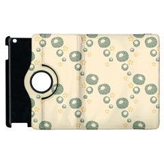 Flower Floral Pink Apple Ipad 3/4 Flip 360 Case