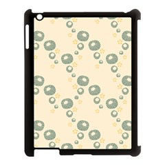 Flower Floral Pink Apple Ipad 3/4 Case (black)
