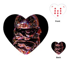 Hamburgers Digital Art Colorful Playing Cards (heart)  by Simbadda