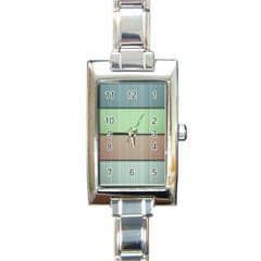 Lines Stripes Texture Colorful Rectangle Italian Charm Watch by Simbadda