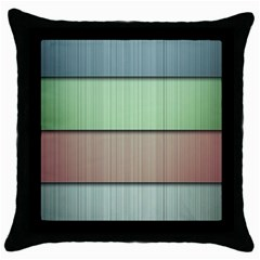 Lines Stripes Texture Colorful Throw Pillow Case (black)