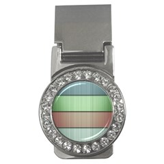 Lines Stripes Texture Colorful Money Clips (cz)  by Simbadda