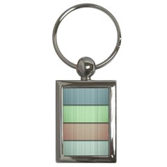 Lines Stripes Texture Colorful Key Chains (rectangle)  by Simbadda