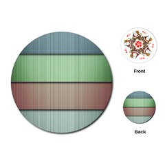 Lines Stripes Texture Colorful Playing Cards (round)