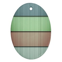 Lines Stripes Texture Colorful Oval Ornament (two Sides)