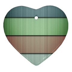Lines Stripes Texture Colorful Heart Ornament (two Sides)