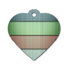 Lines Stripes Texture Colorful Dog Tag Heart (two Sides) by Simbadda