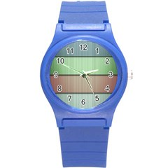 Lines Stripes Texture Colorful Round Plastic Sport Watch (s)