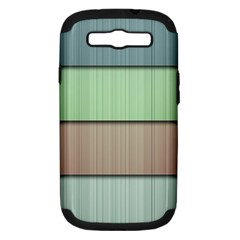 Lines Stripes Texture Colorful Samsung Galaxy S Iii Hardshell Case (pc+silicone)
