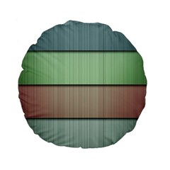 Lines Stripes Texture Colorful Standard 15  Premium Flano Round Cushions