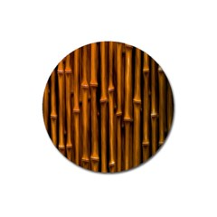Abstract Bamboo Magnet 3  (round) by Simbadda
