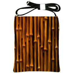 Abstract Bamboo Shoulder Sling Bags by Simbadda