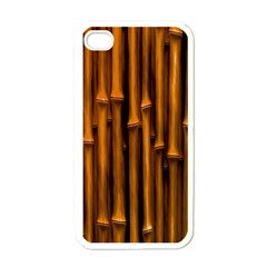 Abstract Bamboo Apple Iphone 4 Case (white) by Simbadda