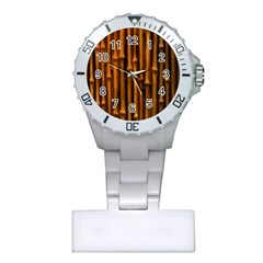Abstract Bamboo Plastic Nurses Watch