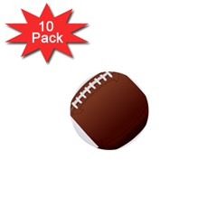 Football American Sport Ball 1  Mini Buttons (10 Pack)  by Alisyart