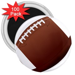 Football American Sport Ball 3  Magnets (100 Pack) by Alisyart