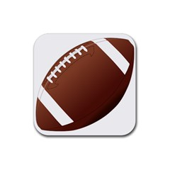 Football American Sport Ball Rubber Coaster (square)  by Alisyart