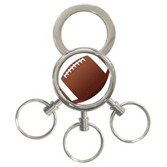 Football American Sport Ball 3 Ring Key Chains by Alisyart