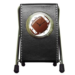 Football American Sport Ball Pen Holder Desk Clocks by Alisyart