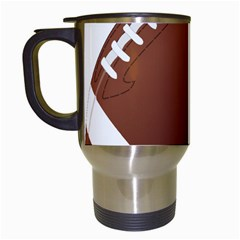Football American Sport Ball Travel Mugs (white) by Alisyart