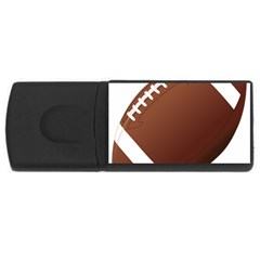 Football American Sport Ball Usb Flash Drive Rectangular (4 Gb) by Alisyart
