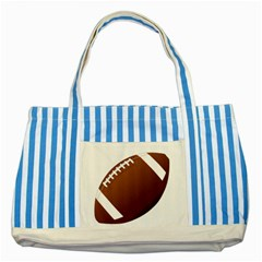 Football American Sport Ball Striped Blue Tote Bag by Alisyart