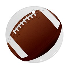 Football American Sport Ball Round Ornament (two Sides) by Alisyart