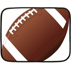 Football American Sport Ball Fleece Blanket (mini) by Alisyart