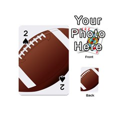 Football American Sport Ball Playing Cards 54 (mini)  by Alisyart